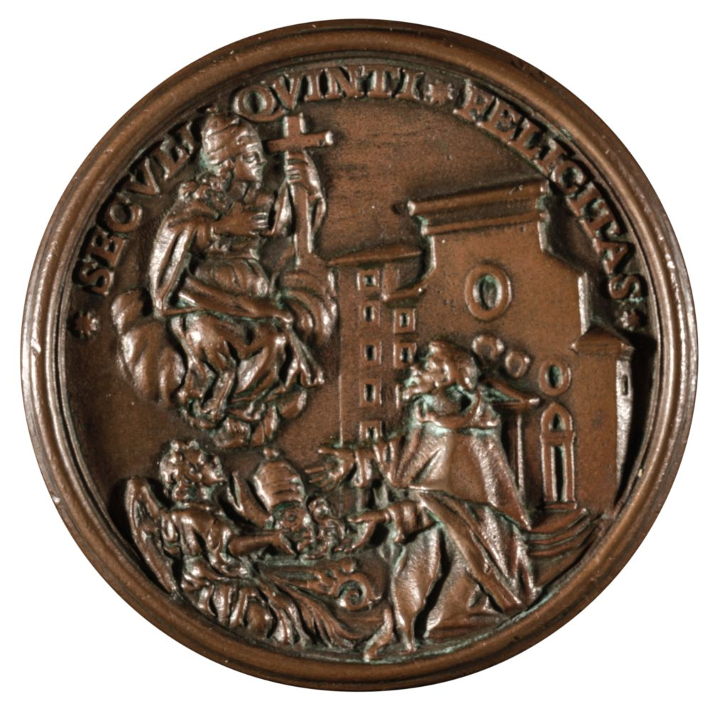 * Papal Medal. Vincenzo Maria Orsini (1649-1730), AE Medal - Image 2 of 2