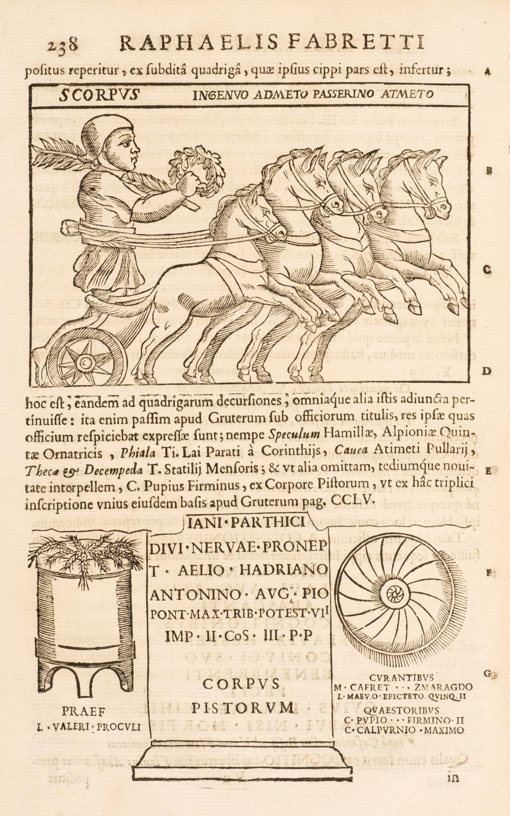 Fabretti (Raffaele). De Columna Traiani Syntagma, Rome, 1690