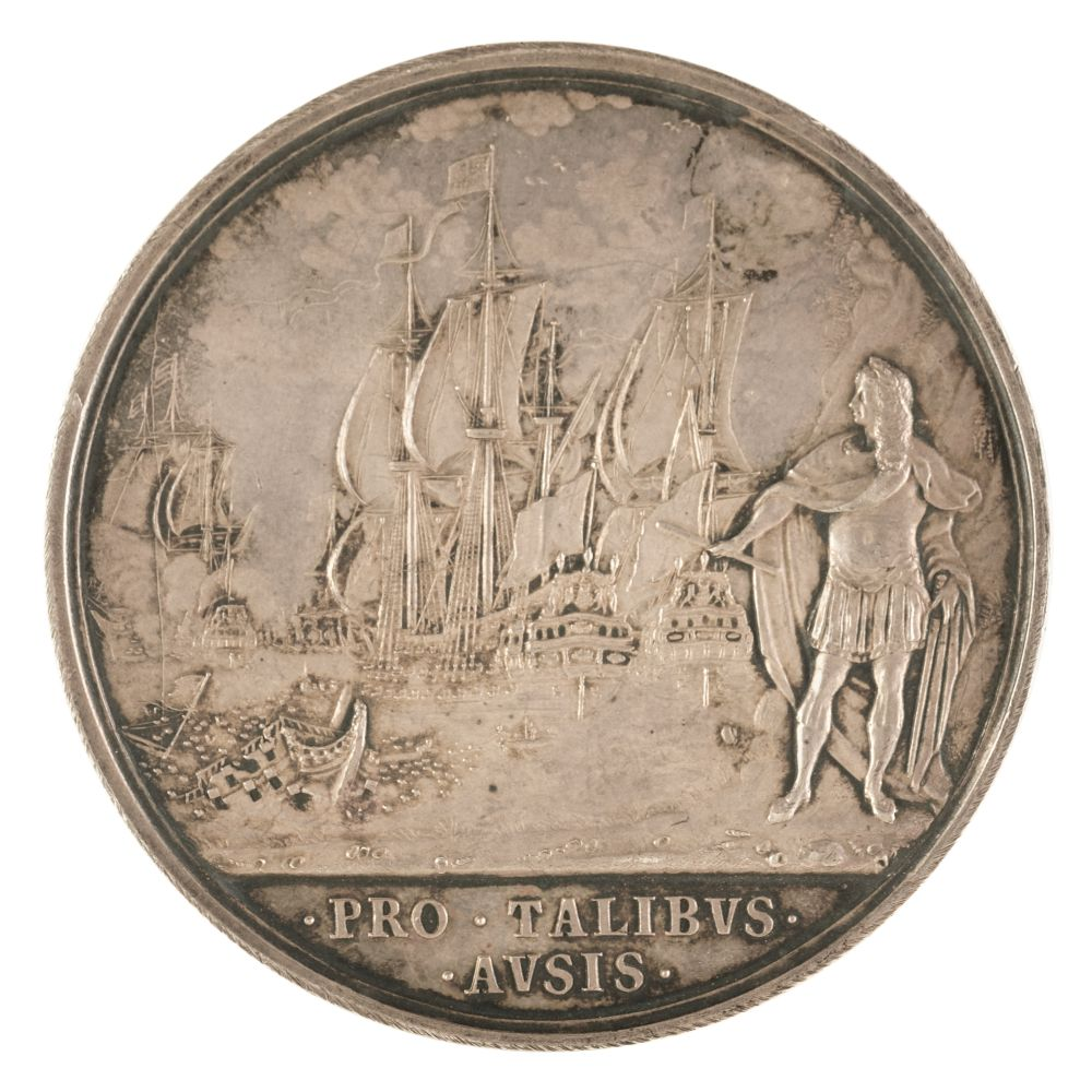 * Medal. Charles II (1660-1685). AR Medal, Battle of Lowestoft, 1665 - Image 2 of 2