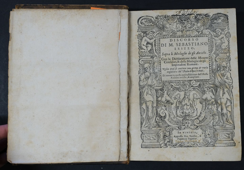 Erizzo (Sebastiano). Discorso sopra le medaglie, 4th edition, 1584, ex libris Fletcher of Saltoun - Image 6 of 11