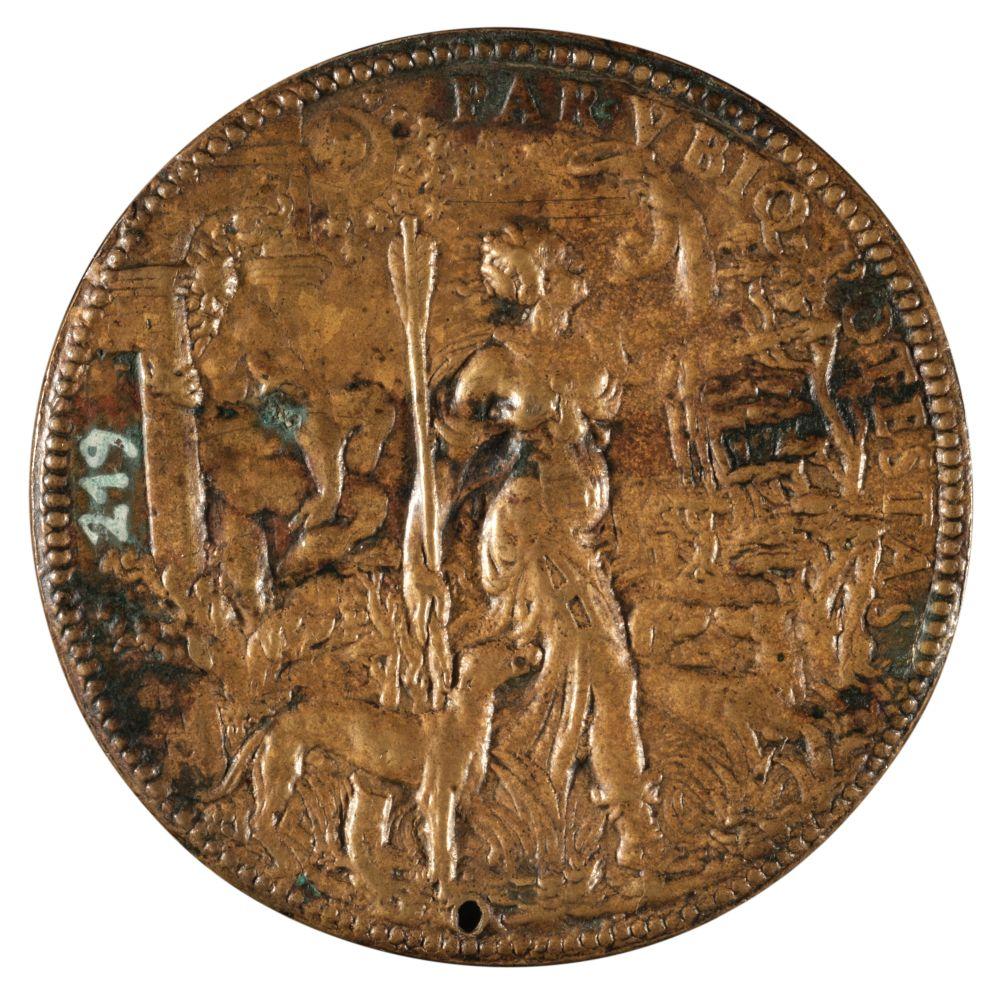 * Medal. Ippolita Gonzaga, Bronze Medal by Leone Leoni, 16th century - Image 2 of 2