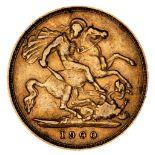 * Victorian half gold Sovereign, 1900