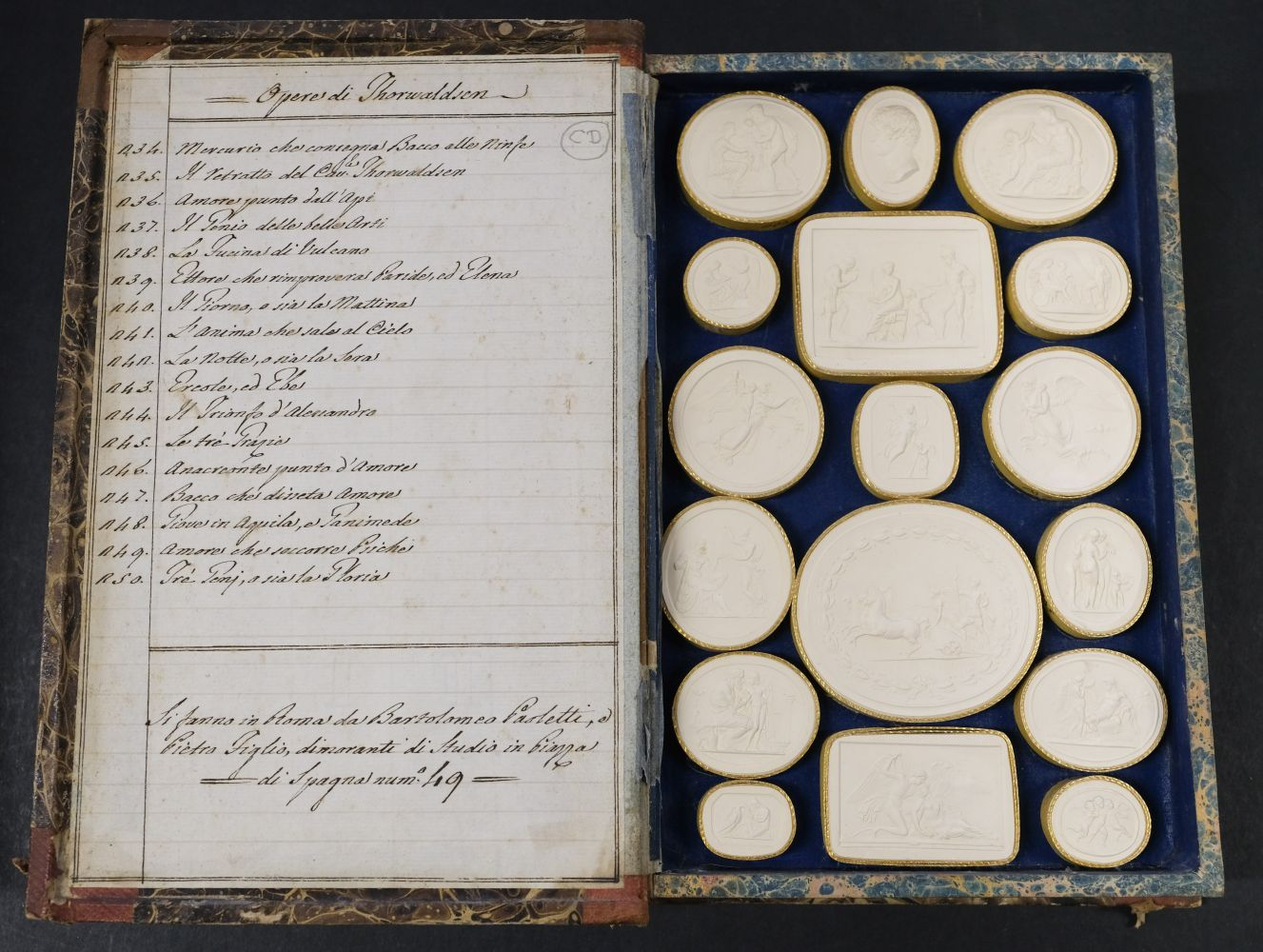 Paoletti (Bartolomeo and Pietro). A collection of 300 plaster cameos, 1820 - Image 14 of 16