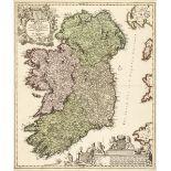 Ireland. Homann (J. B.), Hiberniae Regnum..., circa 1710