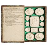 Paoletti (Pietro, 1801-1847). A collection of 158 plaster cameos