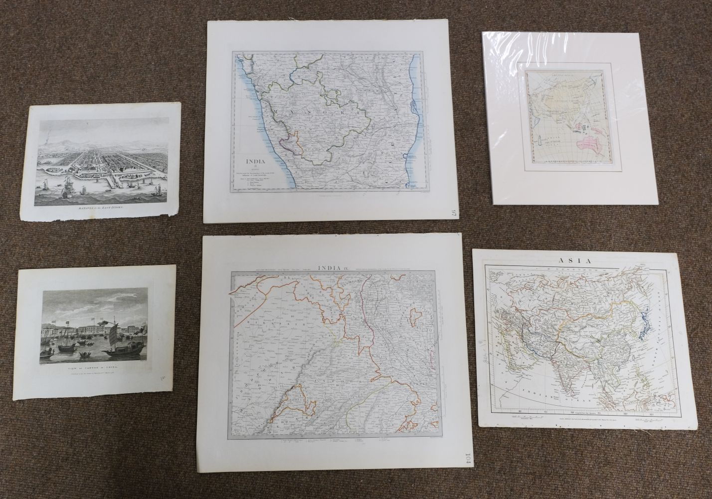 China & Asia. A mixed collection of approximately 40 maps, mostly 18th & 19th century - Image 5 of 5
