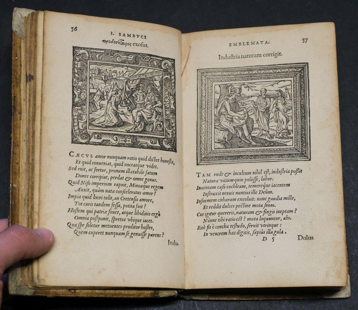 Sambucus (Joannes). Emblemata, Antwerp: Christopher Plantin, 1564 - Image 9 of 11
