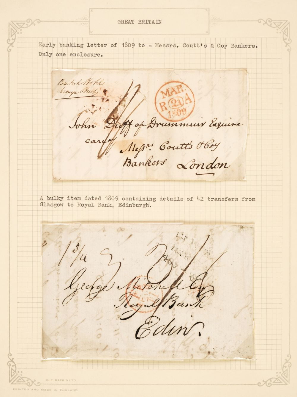 * Postal History. Great Britain circa 1800 - 1890