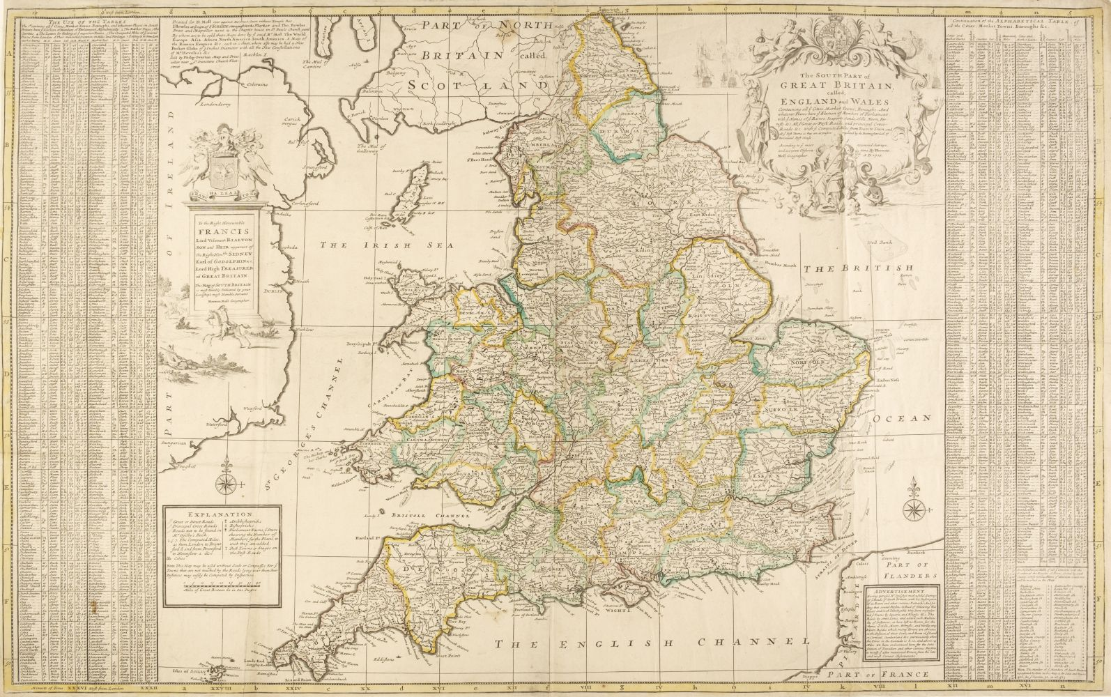 England & Wales. Moll (Herman), The South part of Great Britain...., circa 1715