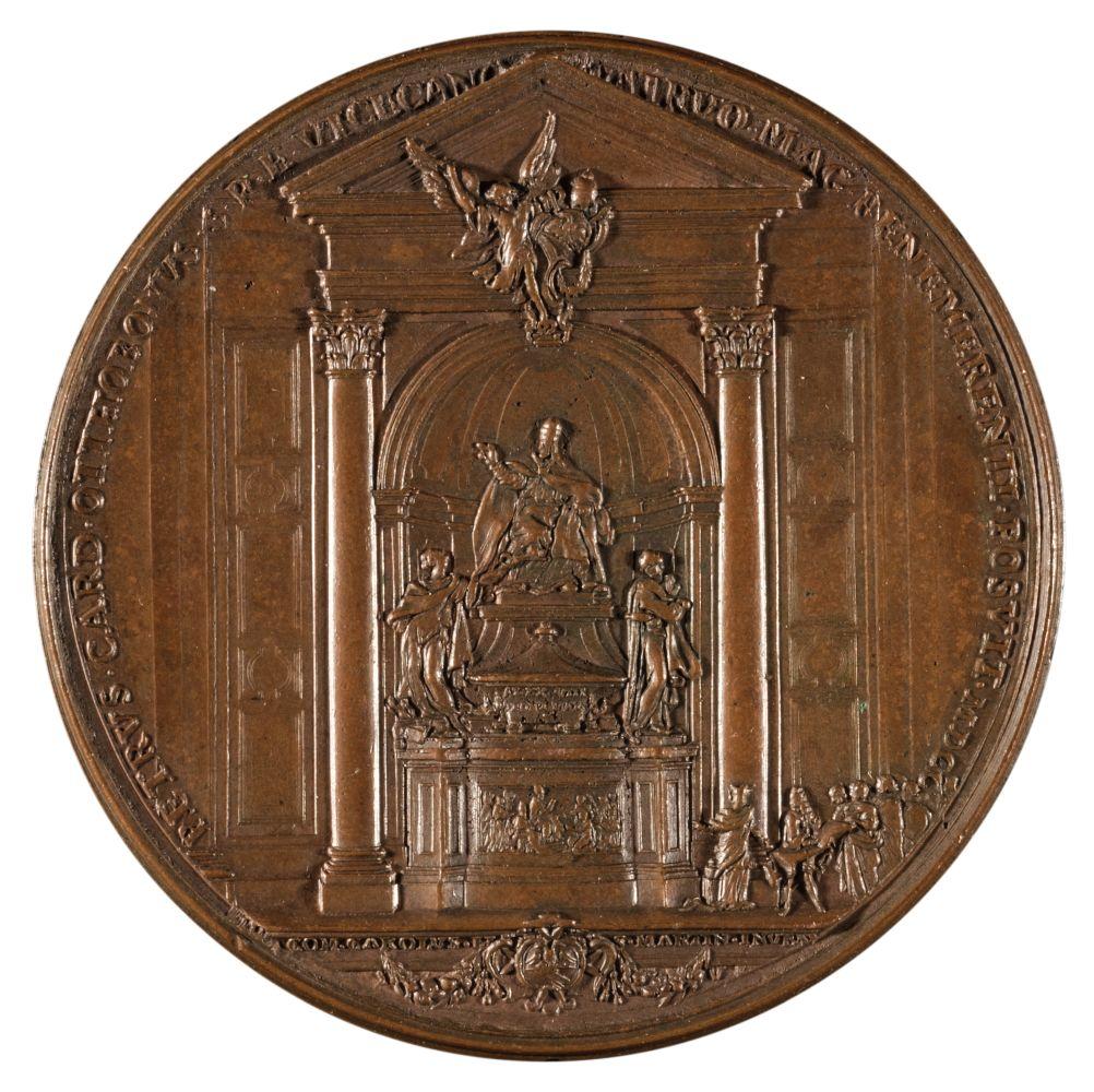 * Papal Medal. Pope Alexander VIII, 1689-91, bronze Medal, c.1700 - Image 2 of 2