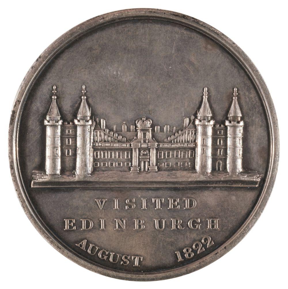 * Medal. George IV (1820-1830). AR Medal, King's Visit to Edinburgh, 1822 - Image 2 of 2