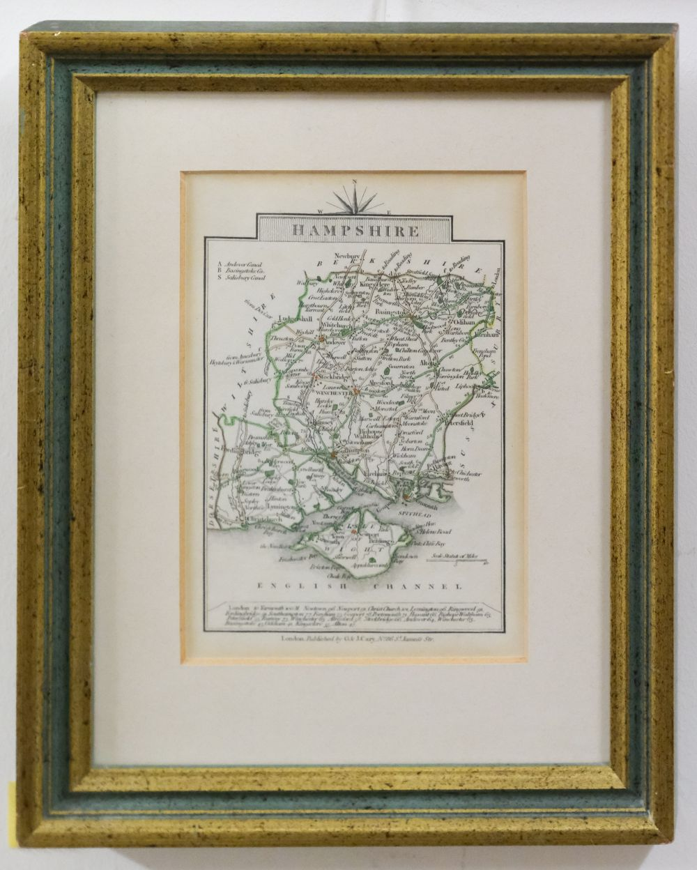 * Hampshire. Norden (J. & Hole G.), Hamshire olim pars Belgarum, circa 1637 - Image 6 of 7