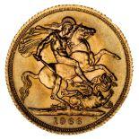 * Elizabeth II, full gold Sovereign, 1966
