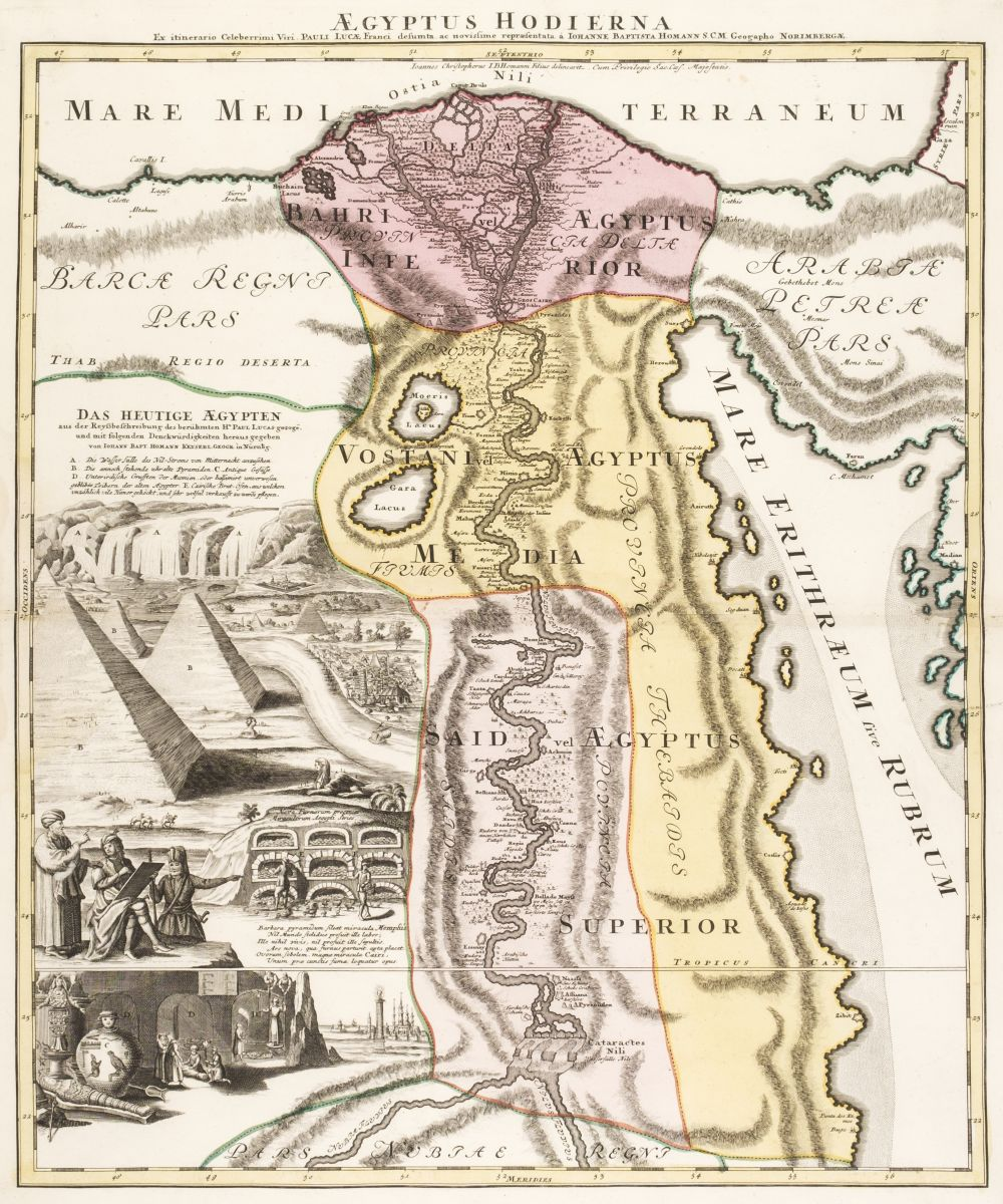 * Egypt. Homann (J. B.). Aegyptus Hodierna circa 1720