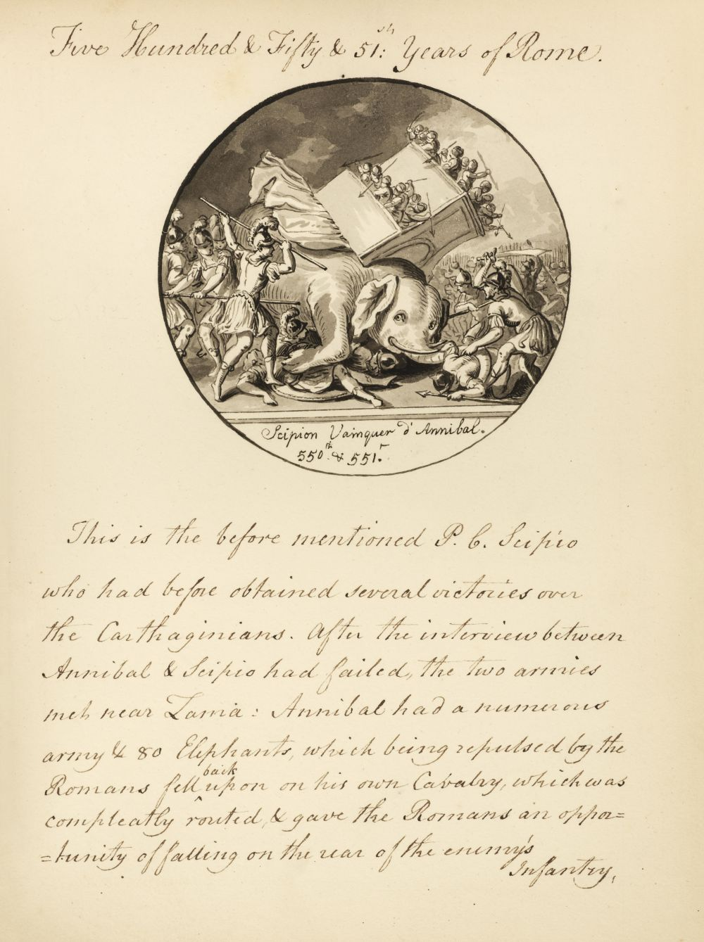 Manuscript. An Explanation of Dassier's Medals, by Charlotte Hanbury, circa 1795-1800 - Image 2 of 3