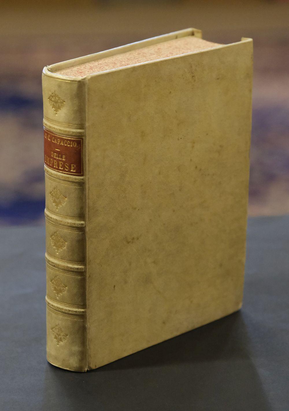 Capaccio (Giulio Cesare). Delle Imprese trattato di Giulio Cesare Capaccio.