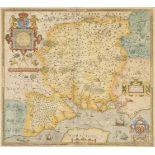 * Hampshire. Saxton (Christopher), Southhamtoniae comitatus..., circa 1579