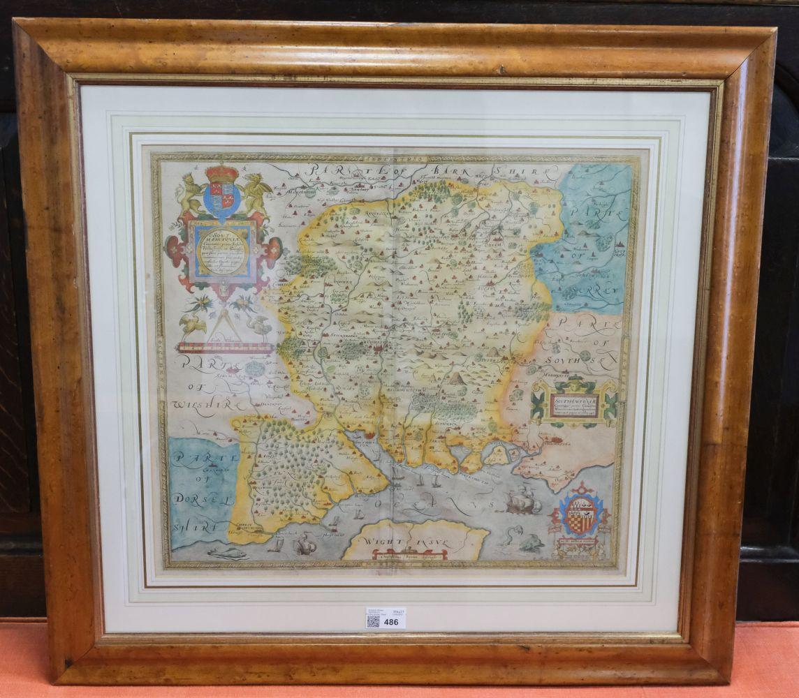 * Hampshire. Saxton (Christopher), Southhamtoniae comitatus..., circa 1579 - Image 2 of 5