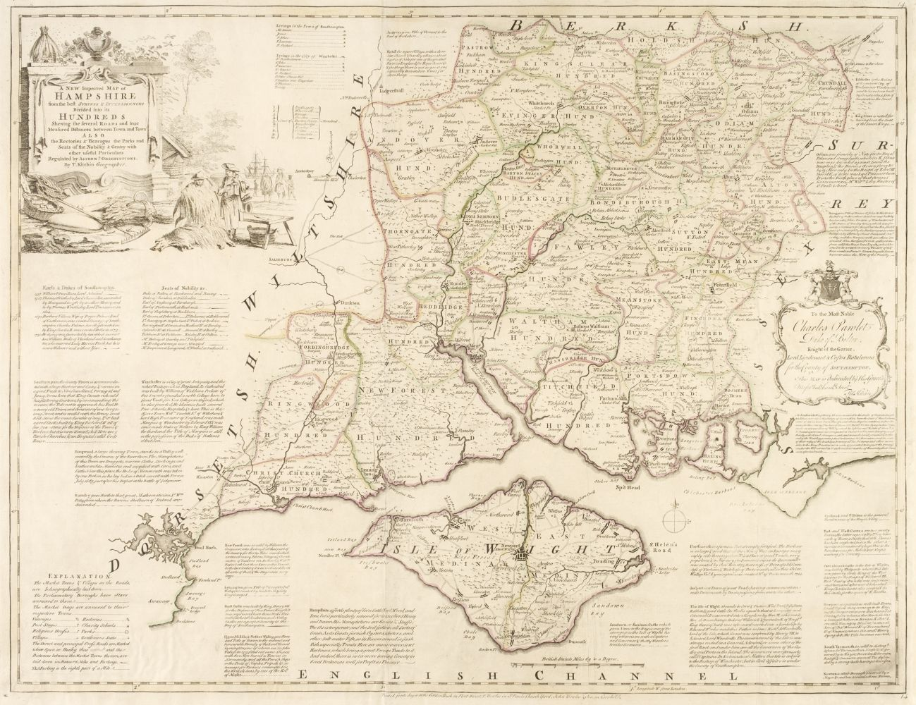 British County Maps. Five engraved maps, 17th & 18th century
