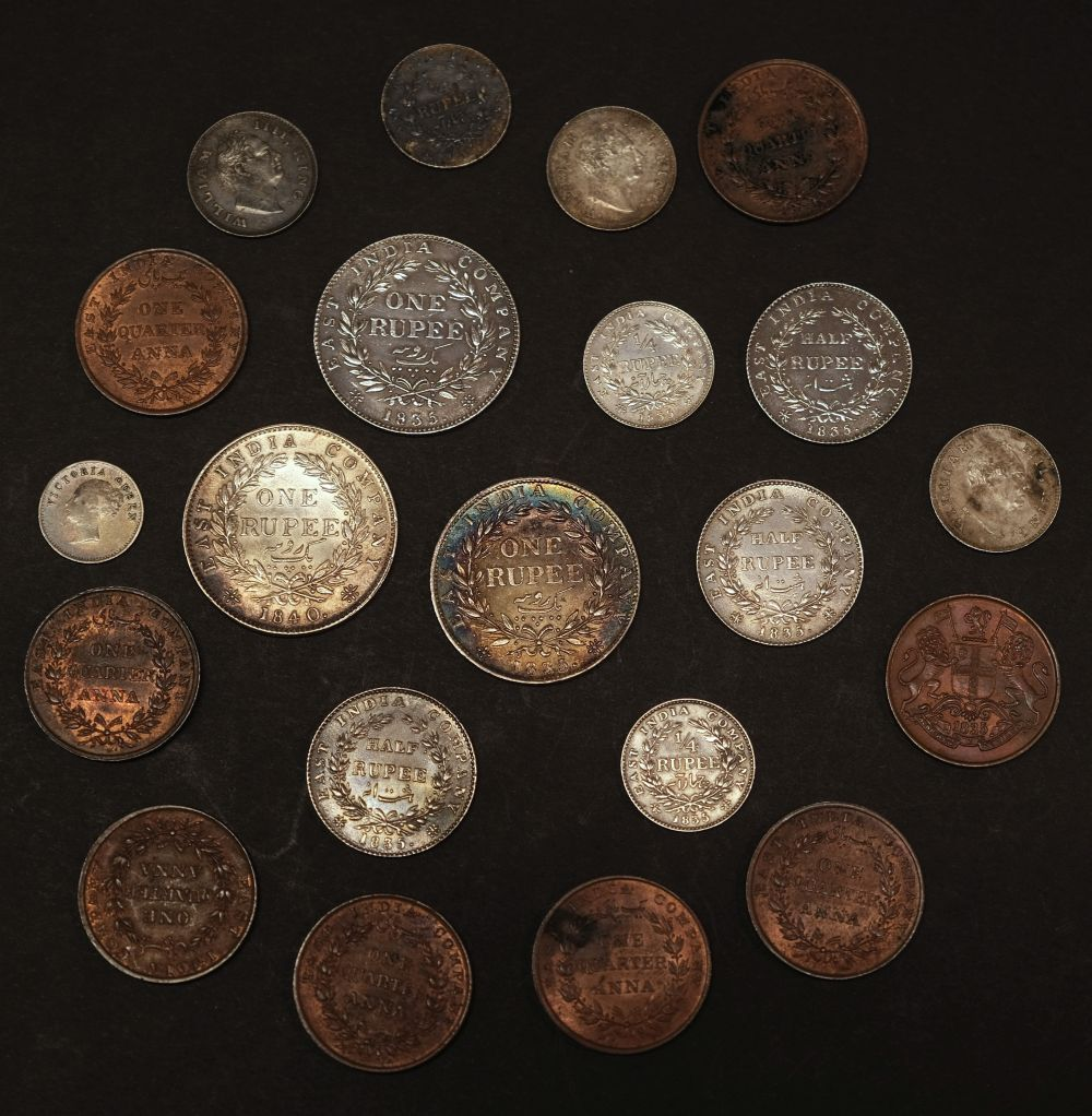 * Coins. East India Company. Rupees, etc - Image 2 of 4