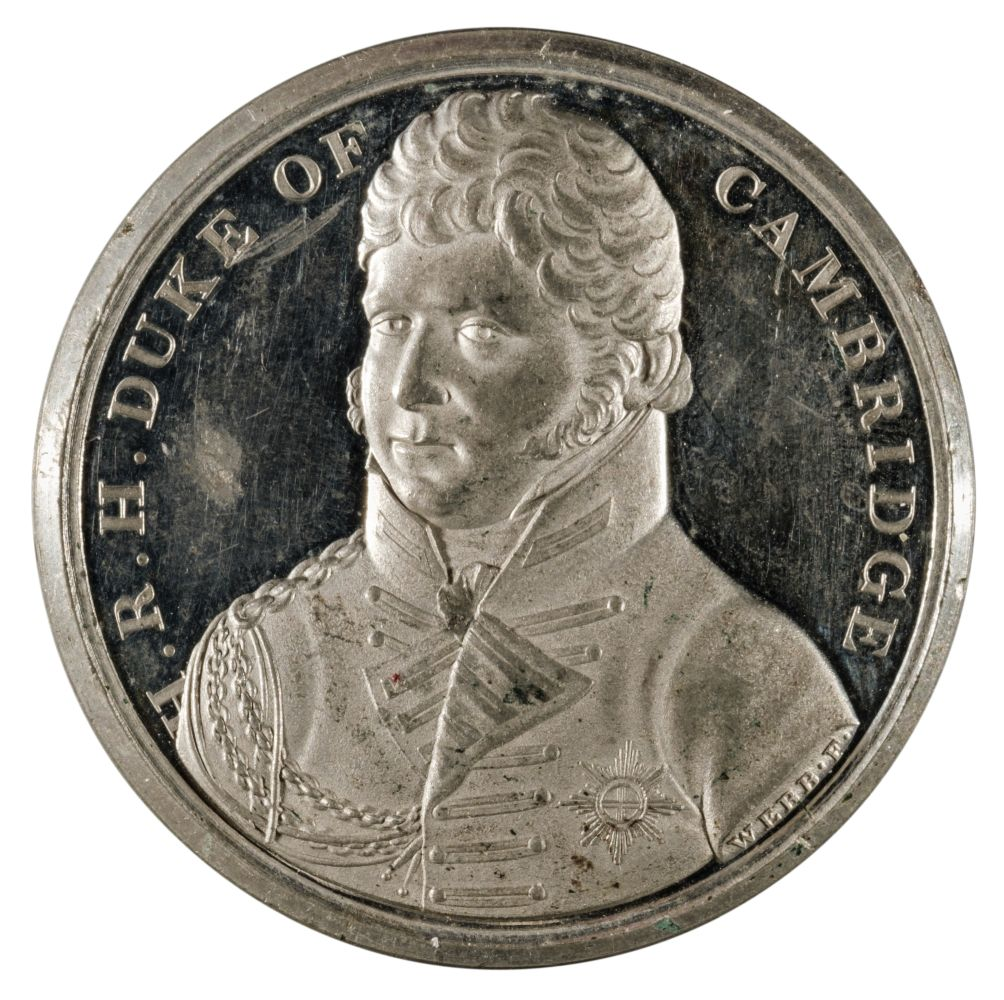 * Medal. English Army Re-Enters Hanover, 1814