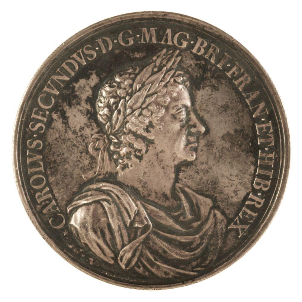 * Medal. Charles II (1660-1685). AR Medal, Battle of Lowestoft, 1665