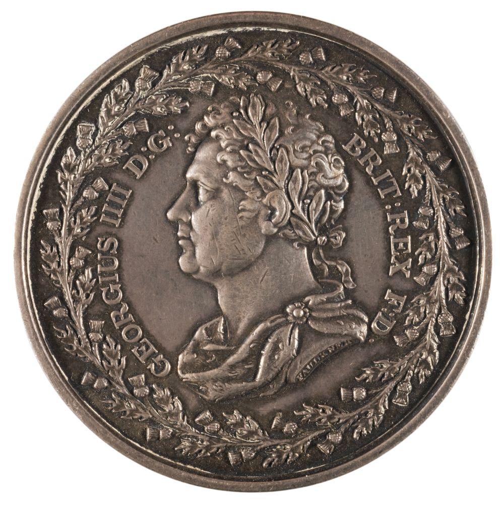 * Medal. George IV (1820-1830). AR Medal, King's Visit to Edinburgh, 1822