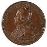 * Papal Medal. Pope Alexander VIII, 1689-91, bronze Medal, c.1700