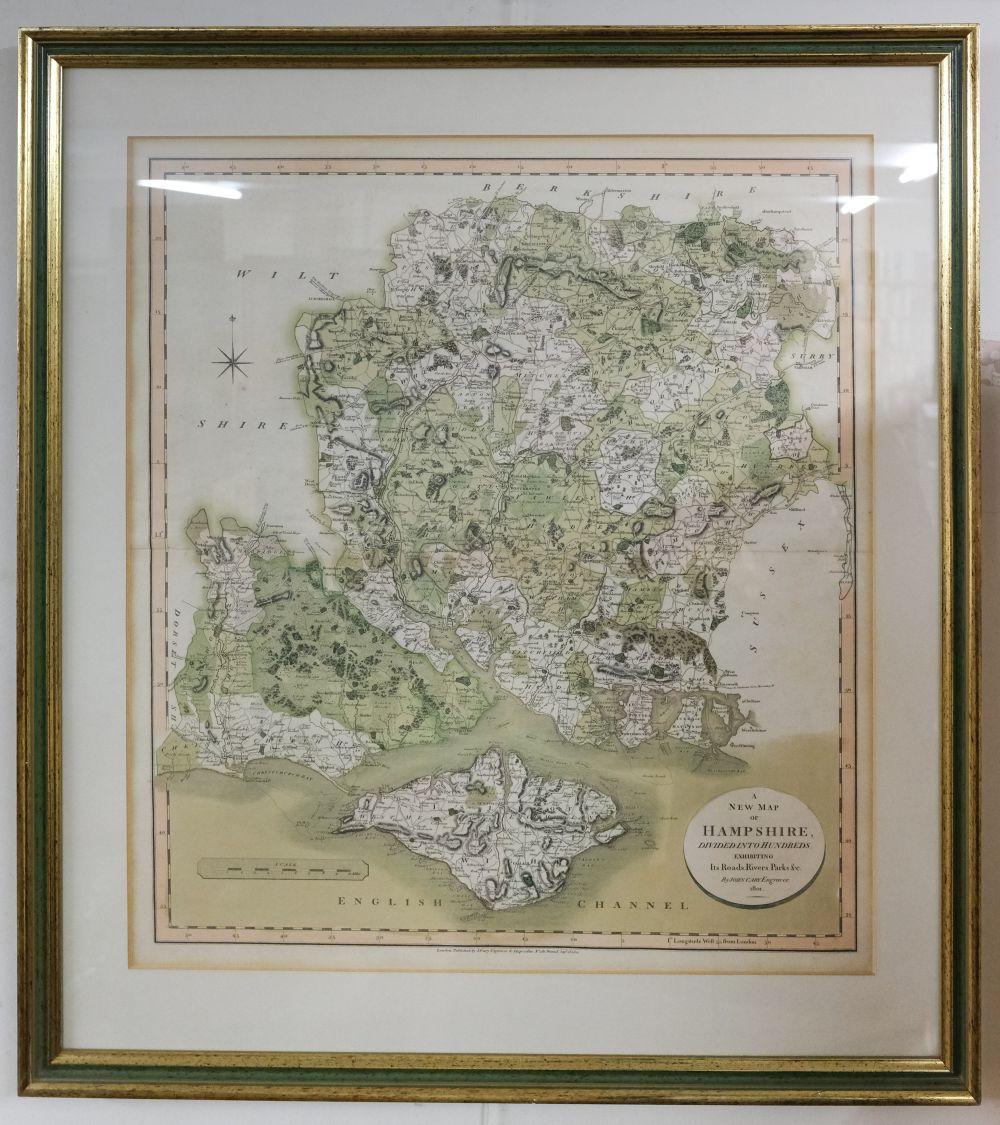 * Hampshire. Norden (J. & Hole G.), Hamshire olim pars Belgarum, circa 1637 - Image 5 of 7
