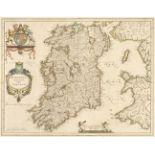 Ireland. Blaeu (Willem Janszoon), Hibernia Regnum vulgo Ireland, Amsterdam, circa 1640