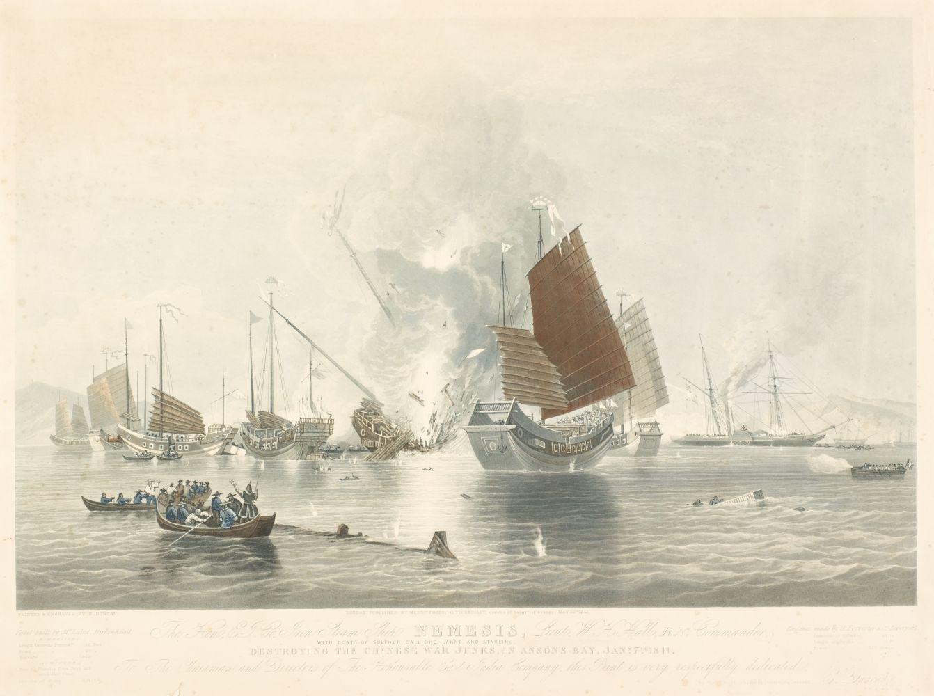* Duncan (E.). The Hon. E. T. Co. Iron Steam Ship Nemesis..., 1843