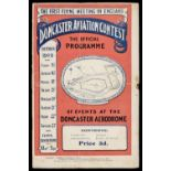 * Zeppelin letter dated 1915 and 1909 Doncaster Aviation Contest Programme