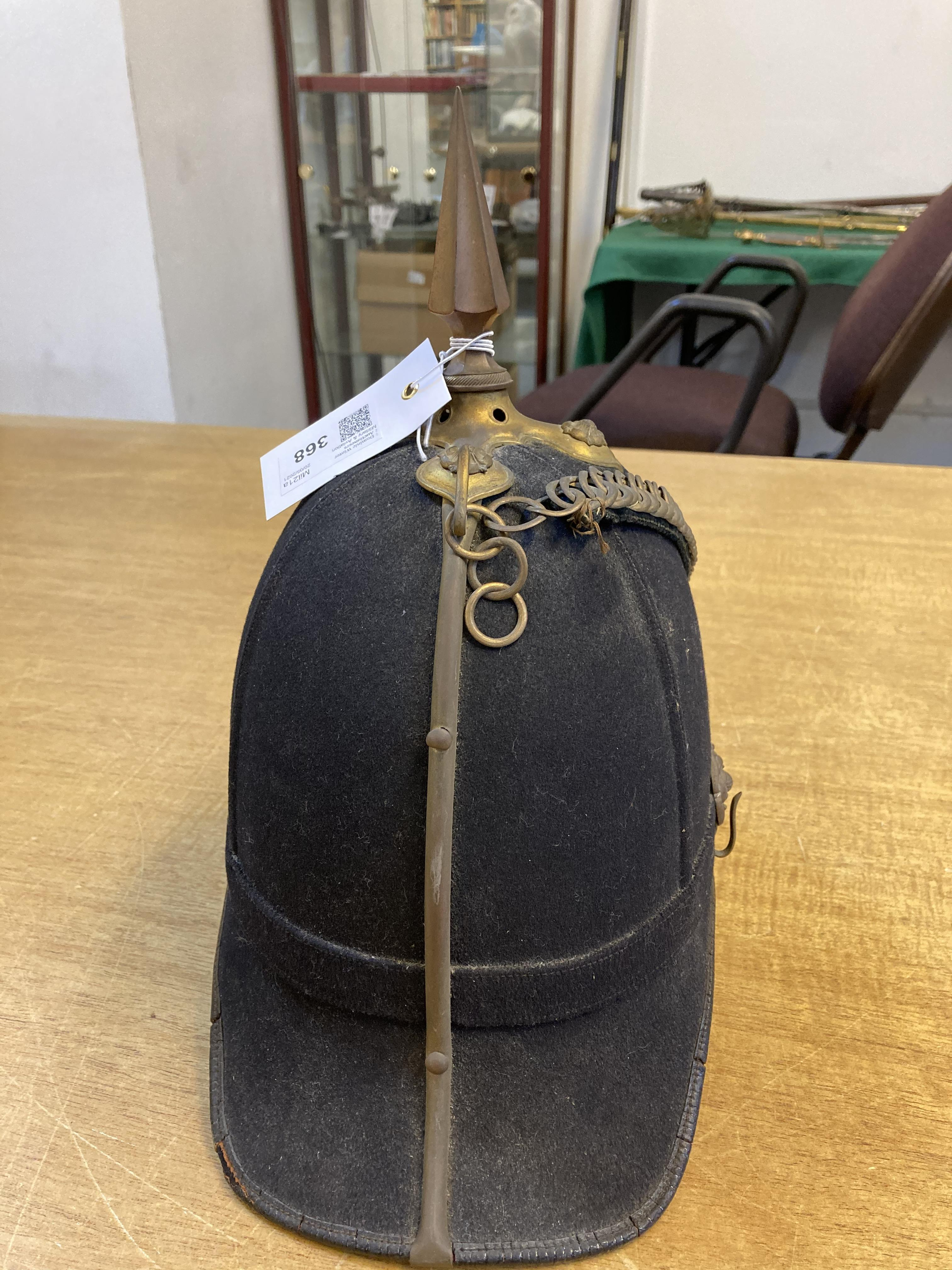* Helmet. Green Howards blue cloth helmet. - Image 3 of 6