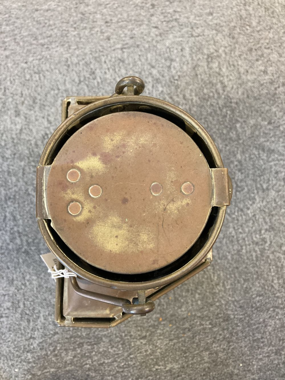 * WWI Brass Trench / Wardroom Lamp - Image 7 of 10