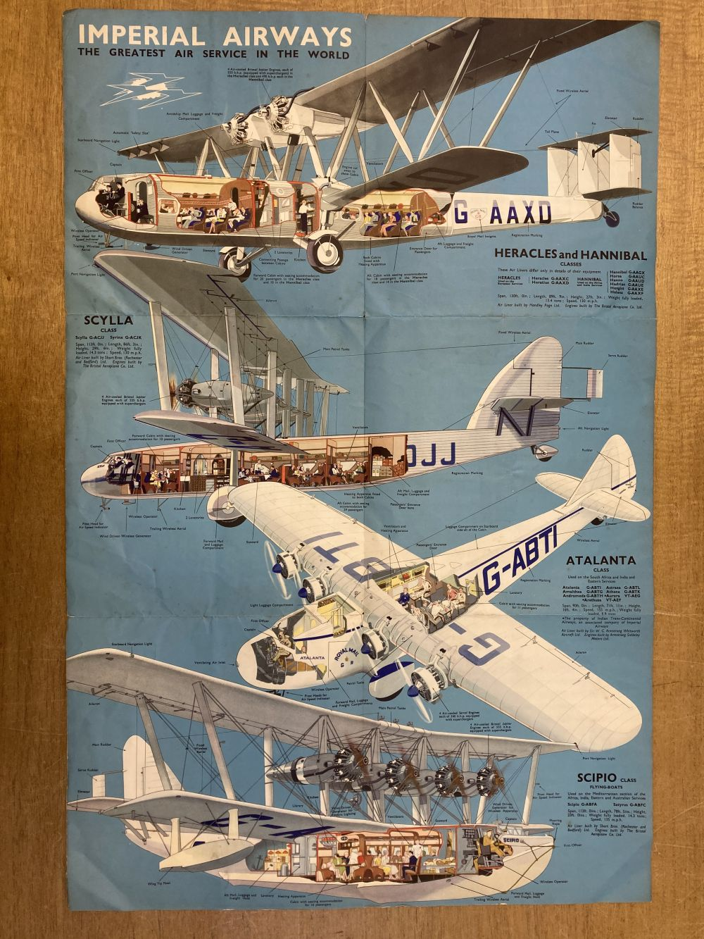 * Imperial Airways. The Greatest Air Service in the World - Image 3 of 3