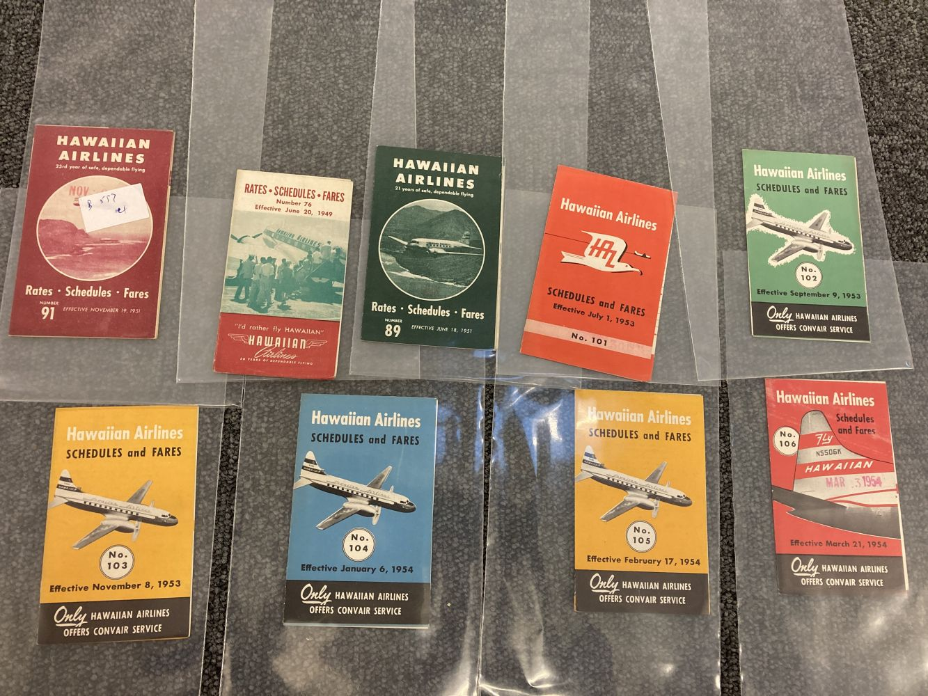 * Civil Aviation. American Timetables 1940-1960 - Image 7 of 11