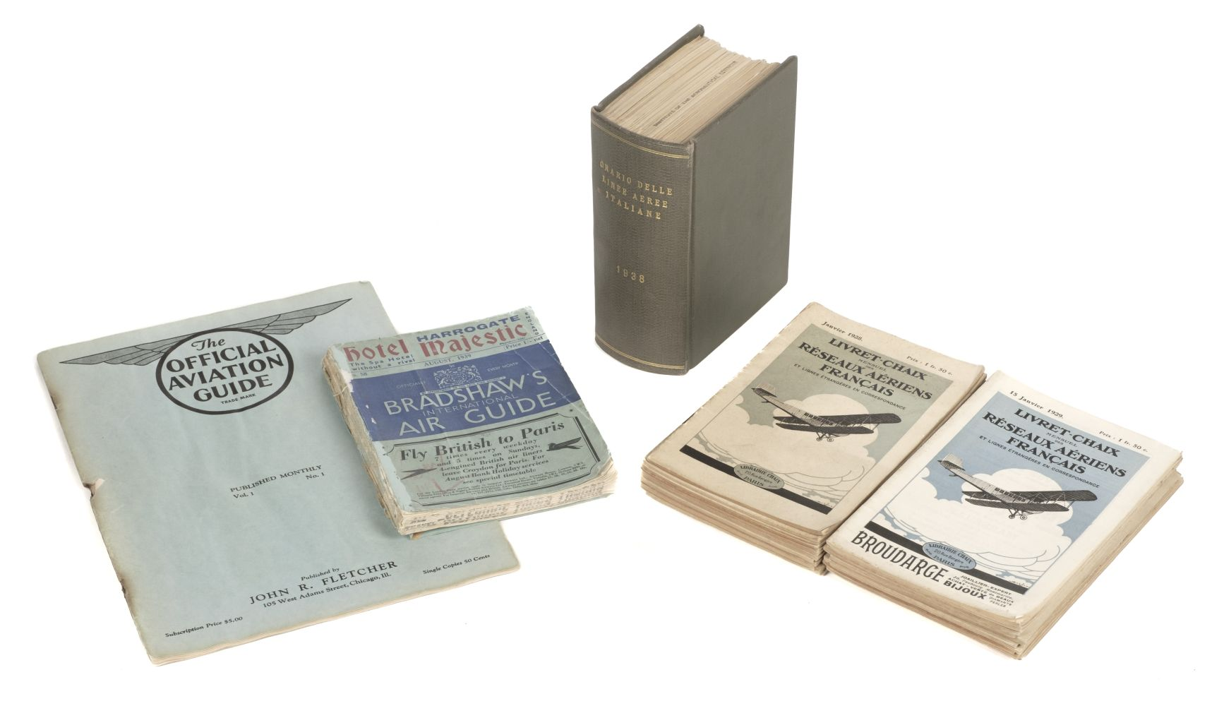 * Civil Aviation. 1920/30s French & Italian Timetables