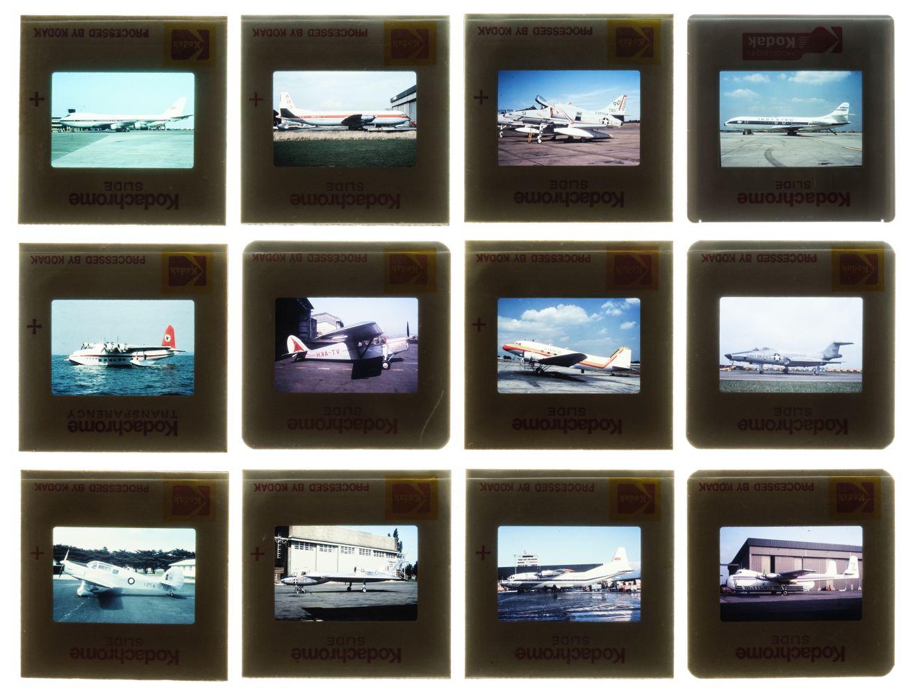 * Aviation Slides. Approximately 700 35mm colour slides