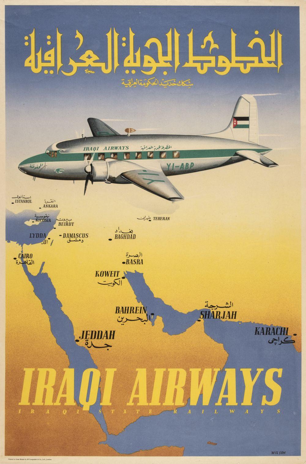 * Civil Aviation. Iraqi Airways Poster, 1950