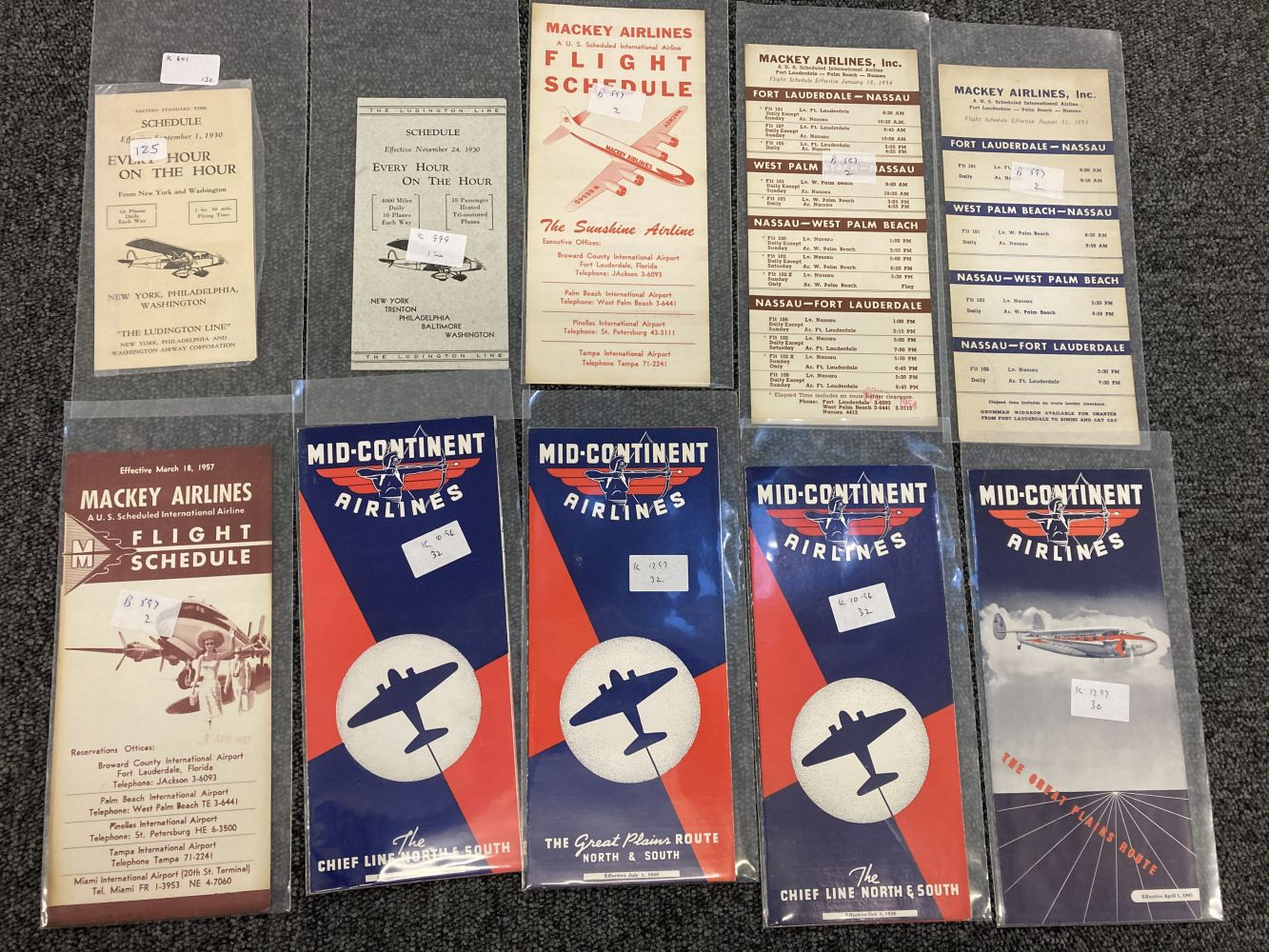 * Civil Aviation. American Timetables 1940-1960 - Image 10 of 11