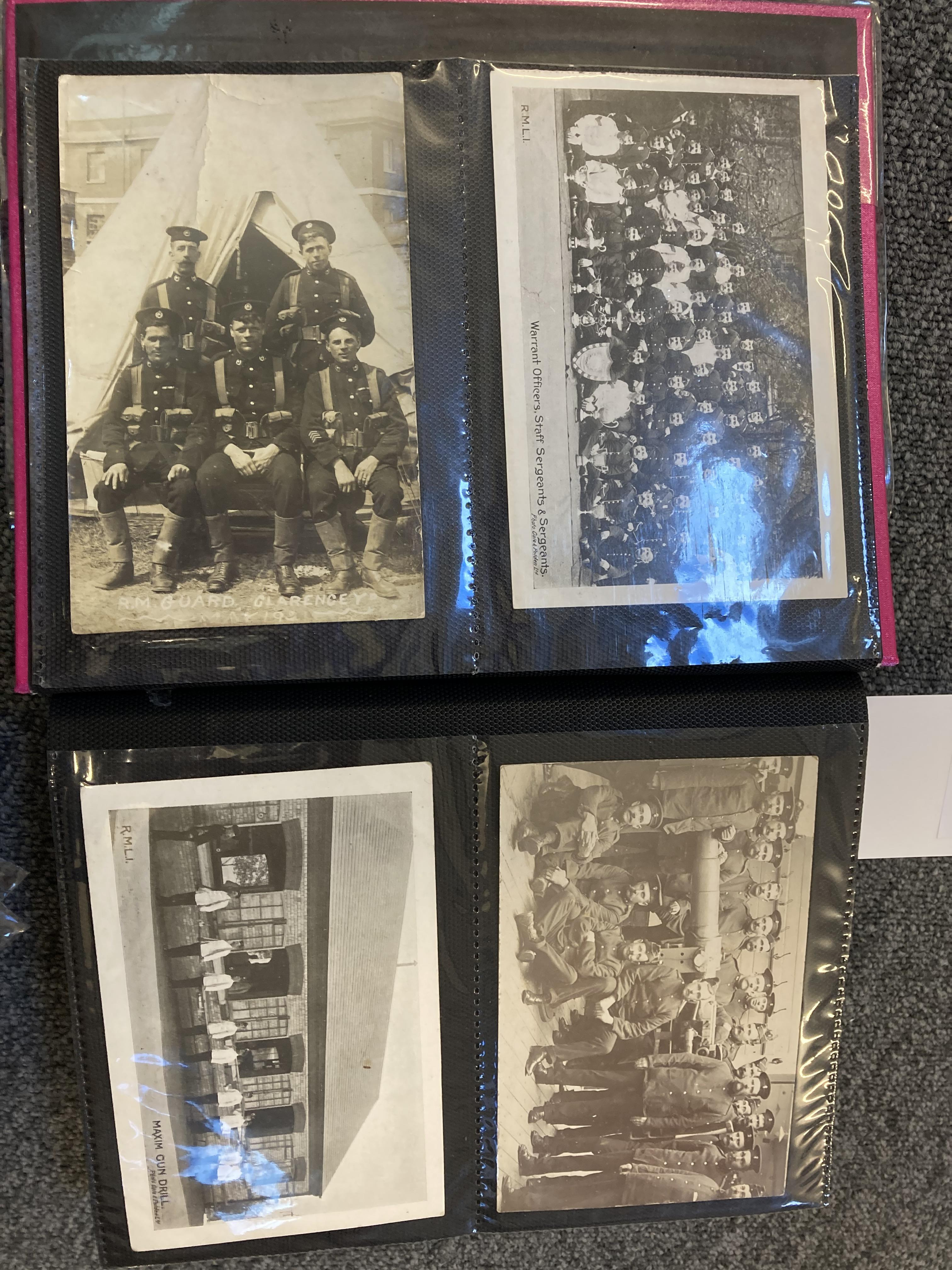 * Royal Marines. 200 early 20th century postcards - Image 3 of 12
