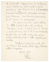 * Prince Philip (1921-2021). Autograph Letter Signed, 1956