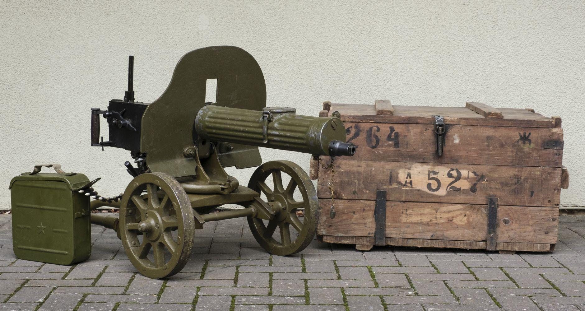 * Maxim 1910. A Russian Maxim 1910 light machine gun c.1945