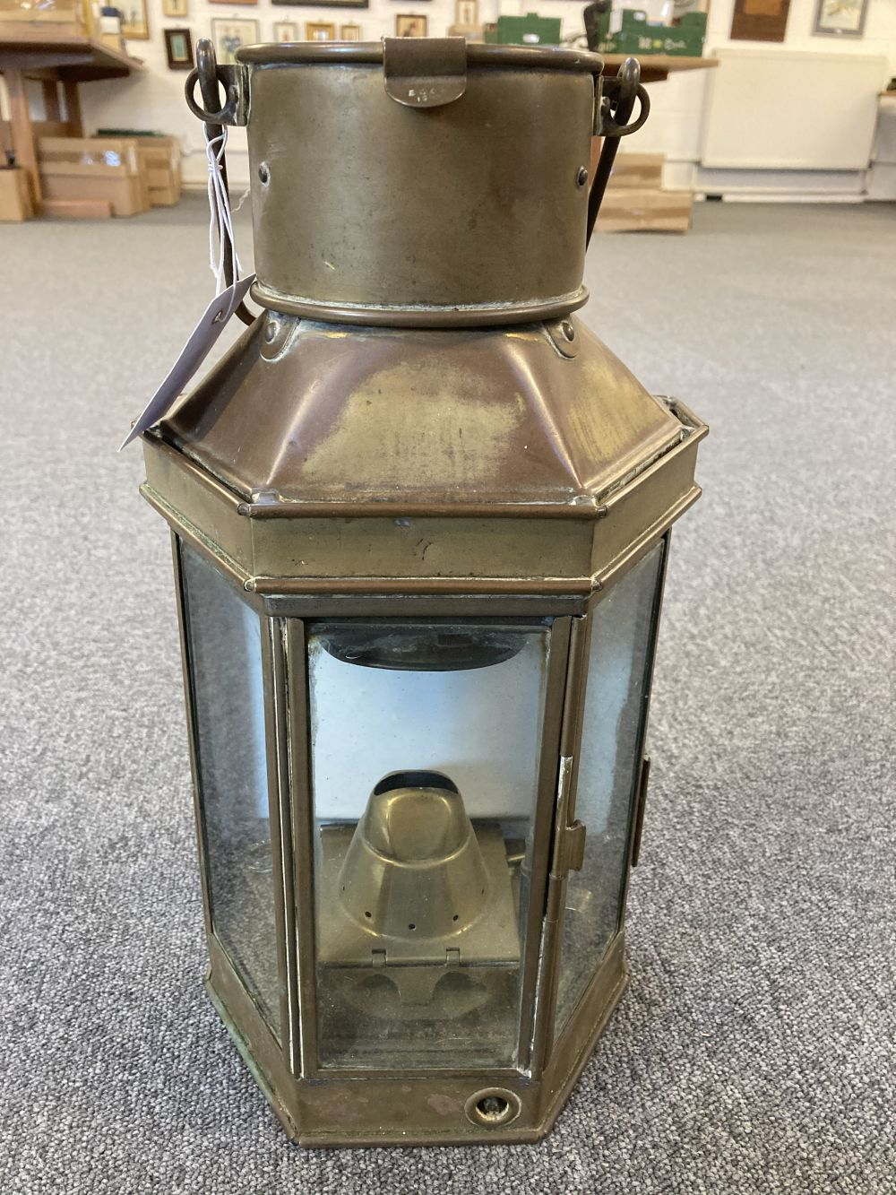 * WWI Brass Trench / Wardroom Lamp - Image 3 of 10