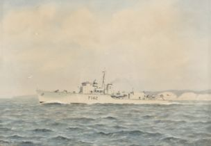* Tufnell (Eric Erskine Campbell 1888-1978). HMS Brocklesby, together with SS 'Crosshill'