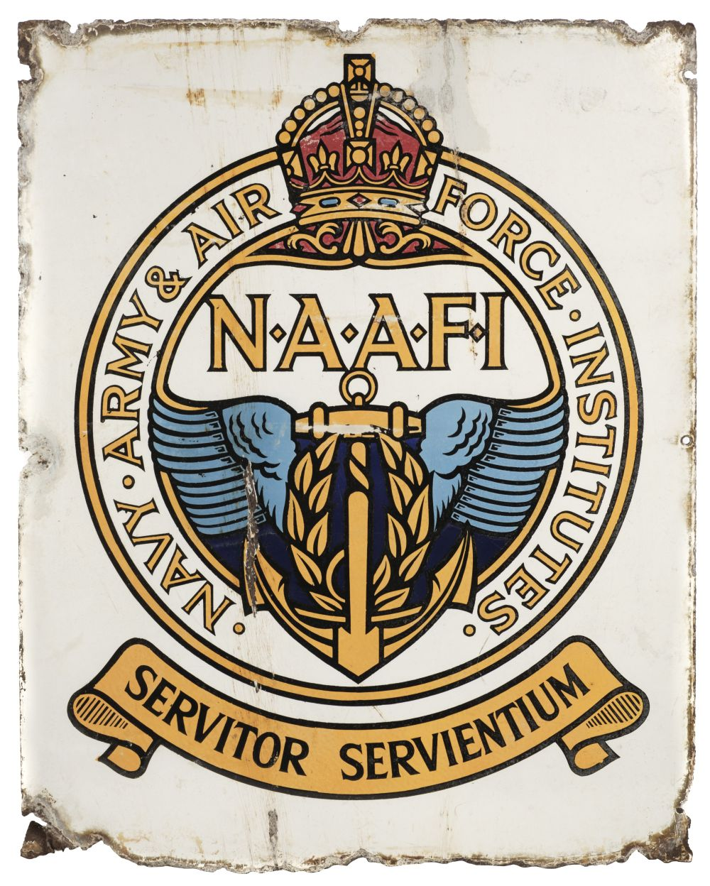 * Enamel Sign. WWII Period, NAAFI