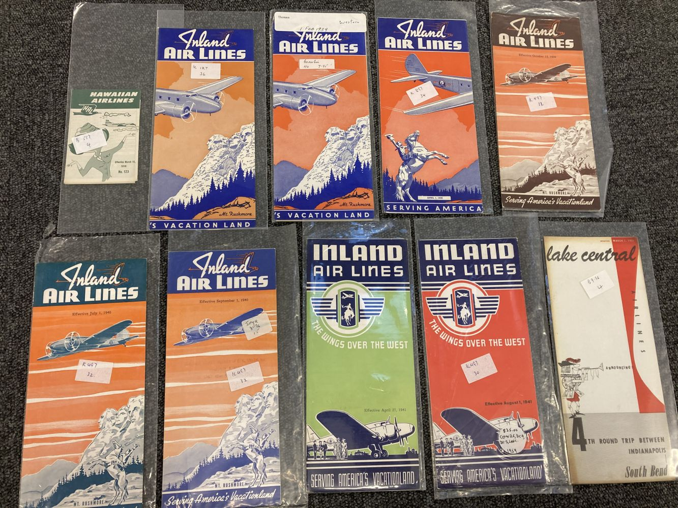 * Civil Aviation. American Timetables 1940-1960 - Image 9 of 11