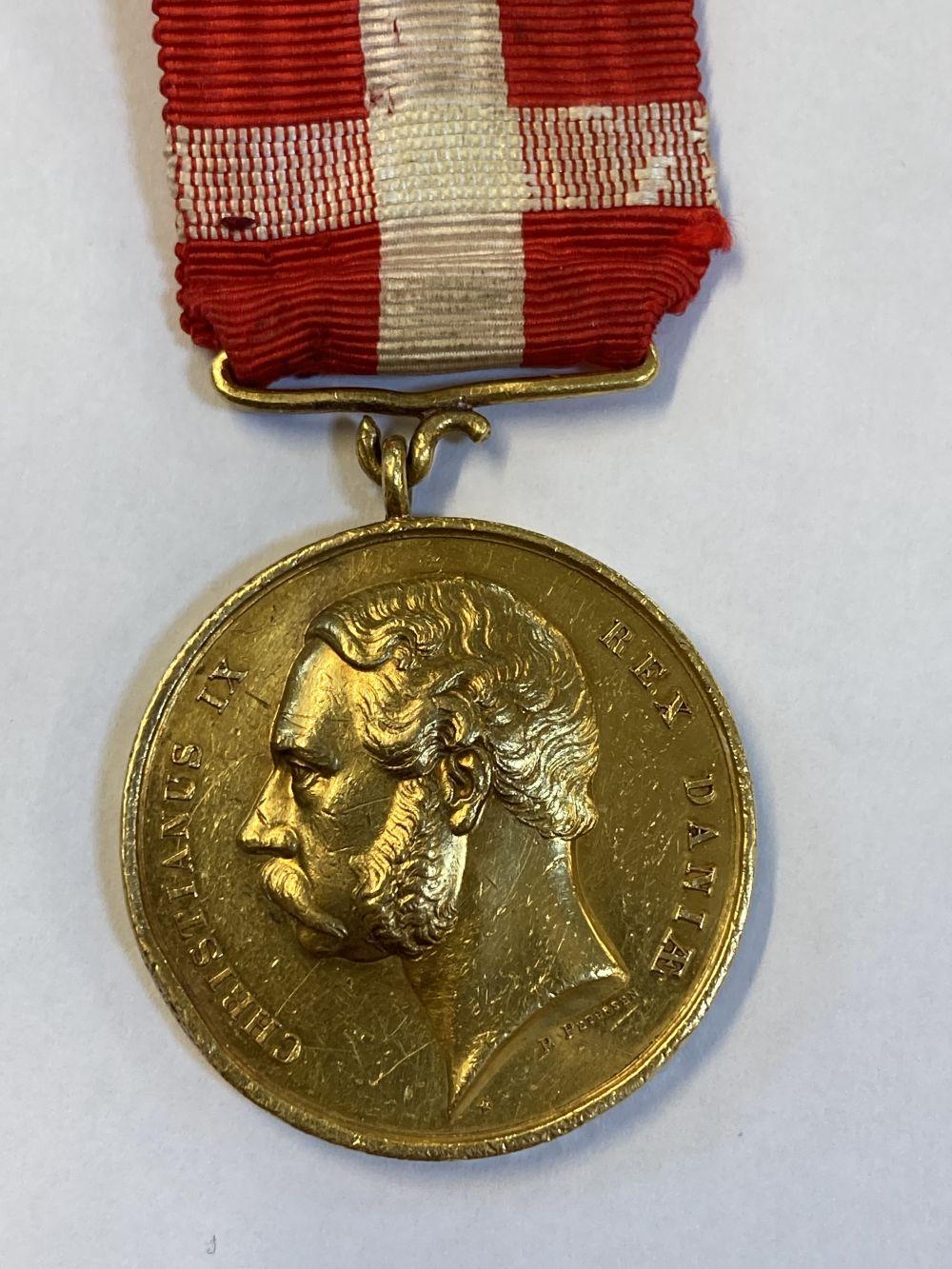 * Denmark. Christianus IX Gold Medal - J Blackburn - Image 2 of 5