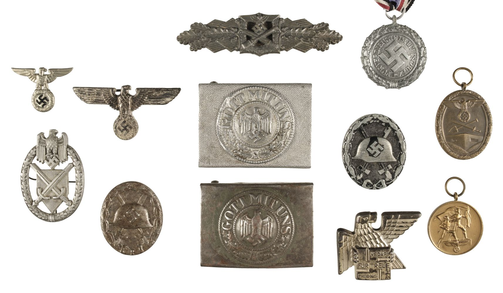 * Third Reich. WWII German Close Combat Clasp and other items