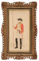 * Howell (Lieutenant Ernest Vernon, 1891-). 77th Foot Officer, 1787, 1807, & 1836, 1932